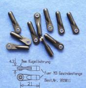 Kugelgelenk mit Kugel 4,77mm für M3