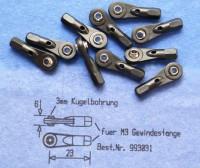 Kugelgelenk mit Kugel 5,77 mm u. Sechskant für M3