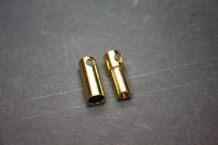 Goldkontakt 5,5mm geschlitzt,Stecker und Buchse