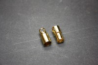 Goldkontakt 6,0mm geschlitzt,Stecker und Buchse