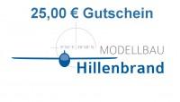 Gutschein über 25,00 €